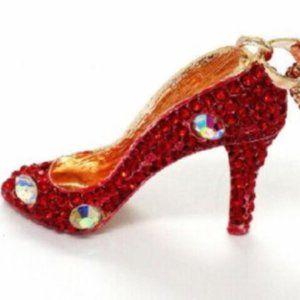 Betsey Johnson Rhinestone High Heel Shoe Necklace